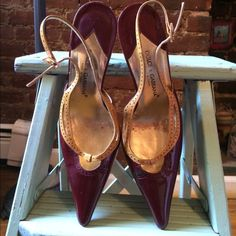 Simple & chic Patent leather  3  1/2 heels , great stud detail around top of the heel . Dolce & Gabbana Shoes Heels