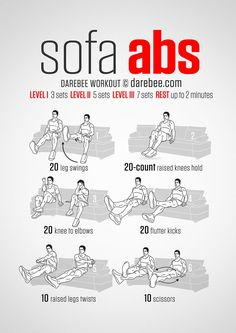 Sofa abs! | Posted by: NewHowToLoseBellyFat.com