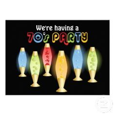 Remember the Lava Lamps!? LOVED them!  1970s Theme Party Celebration Ideas @party-party-party-party Simplicity