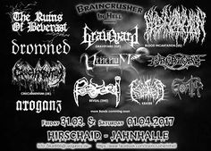 Long Live The Loud 666: BRAINCRUSHER IN HELL 31 MARCH 2017 & 1 APRIL WITH:...