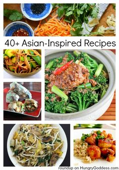 Asian Inspired Recipes Roundup on Hungry Goddess