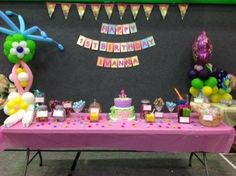 Candy buffet at Ivanna's 1st bday