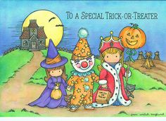 Joan Walsh Anglund Halloween Card on We Heart It Halloween Cards, Holidays Halloween, Vintage Halloween, Fall Halloween, Happy Halloween, Halloween Clipart, Halloween Ideas, Joan Walsh, Holly Hobbie