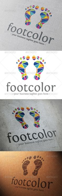 Creative Foot	 Logo Design Template Vector #logotype Download it here: http://graphicriver.net/item/creative-foot-logo-template/5859985?s_rank=253?ref=nesto