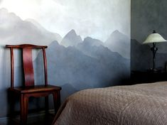 Japanese Mountain Mural