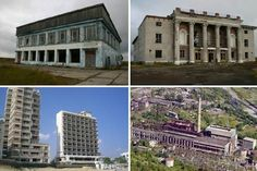 50 ghost towns and abandoned cities of the world, including Oradour-sur-Glane, from Europe and Asia to America, Antarctica, Africa and Oceania.