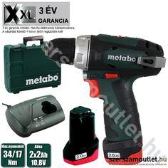 METABO PowerMaxx BS Basic Fúró-csavarozó kofferben (34Nm/2x2.0Ah/10,8V) ...