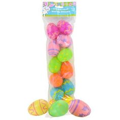Easter Printed Plastic Egg Containers Brand New in Packaging 12 count