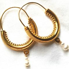 Traditional earrings from Konavle Gold Hoop Earrings, Gold Hoops, Traditional Earrings, Mens Silver Necklace, Anklets, Traditional Outfits, 925 Silver, Jewelery, Jewelry Accessories