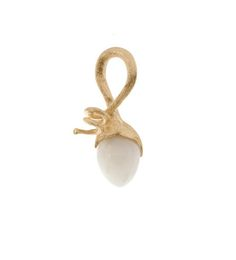 Dänische Handwerkskunst aus Familientradition begeistert alle - Ole Lynggaard: Pendant Sprout 18 ct. yellow gold with moon stone drop white A2662-404