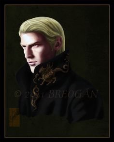 """Portrait of Draco Malfoy posing as future heir of Malfoy Manor I know he looks older than in other """"college"""" Draco deviations I've done, but I thought that since I was aiming for a more """"regal"""" air..."""