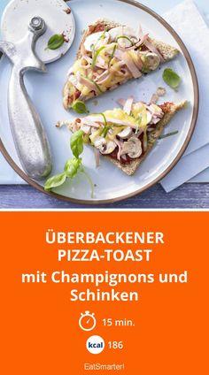 Überbackener Pizza-Toast - mit Champignons und Schinken - smarter - Kalorien: 186 Kcal - Zeit: 15 Min. | eatsmarter.de