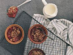 Petite Kitchen's Winter Rhubarb Crumble Recipe - This tangy rhubarb crumble from Eleanor Ozich is best served with lashings of cream Kitchen Recipes, My Recipes, Sweet Recipes, Dessert Recipes, Desserts, Crumble Recipe, Crumble Topping, Petite Kitchen, Rhubarb Crumble