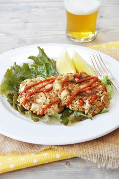 """You know you've hit a home run when you have to protect your food from a pack of hungry men and two little dogs. I made the mistake of letting my son taste one of the vegan jackfruit """"crab"""" cakes..."""