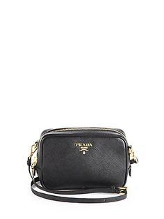 Saffiano Camera Crossbody Bag - Zoom - Saks Fifth Avenue Mobile Prada  Shoes 8f8ca1db82510