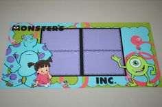 Monster's+Inc++Double+Page+Scrapbook+Layout+by+PaperCraftsByViolet,+$30.00