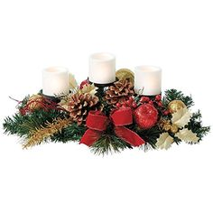 Brylanehome Pre-Decorated Candle Holder Centerpiece