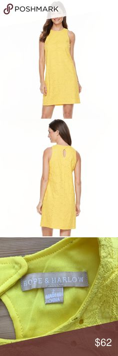 ☀️ NWT Hope & Harlow yellow dress Brand new with tags! Beautiful yellow dress by Hope & Harlow. Women's size 2. Fully lined. Hope & Harlow Dresses