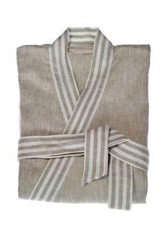 d4a3ca28aa Natural Grey Linen Unisex Bathrobe    Ilona on Etsy. Men s Robes