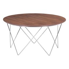 The Macho Table is a simple yet stunning design statement. It has a wood top with a warm walnut veneer on top of a delicate chrome base. Punch up any room with