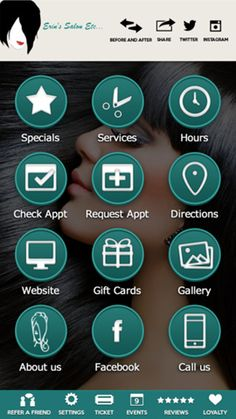Erin's Salon Mobile App for iphone will allow you to direct access to the slon's features. You can check business hours and appointment by salon app.