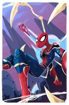 ArtStation - Iron Spider - avengers infinity wars , Saul Orellana