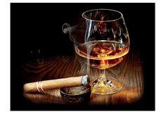 Glasbild, Artland, »Cigar and Cognac«, Größe: 60 x 80 cm. Das Glasbild »Cigar and Cognac« ist ein moderner Blickfang, der Sie begeistern wird! Das Motiv einer Zigarre und eines Cognacglases ist stilvoll und klassisch und lädt den Betrachter zum träumen ein. Durch das hochwertige Digital-Fine-Art-Print-Verfahren wird eine harmonische Verbindung zwischen Glas, Licht und Farben geschaffen und die ...