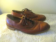 light brown leather gentlemens oxford  by mellowrabbit, $44.00
