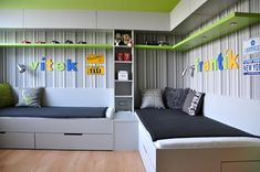 20 Modern Boy Bedroom Ideas (Represents Toddler's Personality) - Home and Garden Decoration Trendy Bedroom, Girls Bedroom, Kids Bedroom Furniture, Bedroom Decor, Shared Bedrooms, Boys Shared Bedroom Ideas, Kids Room Design, Boy Room, Home Decor