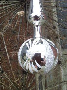 Oude Brocante Kerst Piek nr28 Zilverhaar