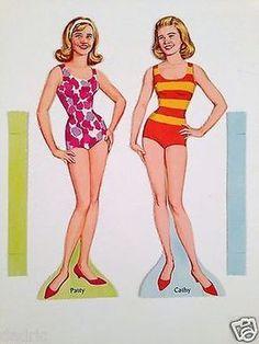 """1964 """"PATTY DUKE Paper Doll Whitman (PATTY 2)"""