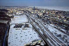 Zimowa Gdynia z lotu ptaka / Bird's eye view of winter Gdynia   fot. Mariusz Sorn   #zima #gdynia #winter #birdseye