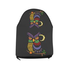 Cool Artistic Owl and Moon Art Crossbody Bag/Large (Model 1631)
