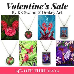 Order your #ValentinesGifts & take advantage of this #Valentines #Sale! Prints by @drakeyart: drakeyart.etsy.com; Pendants by @bykkswann: bykkswann.com/shop/  REMEMBER: You can stack my 30% off coupon with my sale by joining my #InnerCircle at http://ift.tt/2ge9Bnb bykkswann.com/shop/