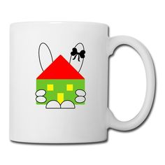 The rabbit hugged house and the rabbit keeps the house. #rabbit #easter #house #hug #keepcalm #holiday #accessorios #accessories #homedecor #home #homeoffice #interiordesign #drink #mugs #coffee #white