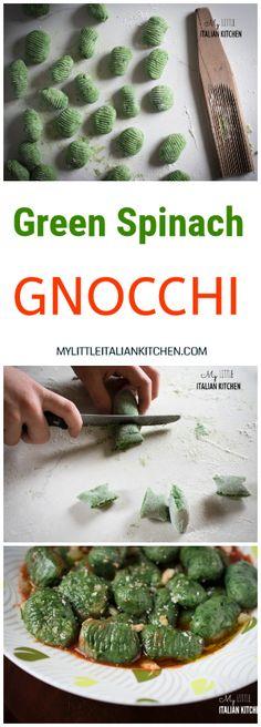 Green spinach gnocchi - Gnocchi Verdi - Vegan Recipe