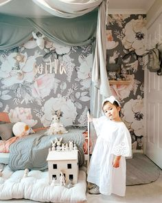 Little luxe living ♡ . Prettiest decor and Willa rockin our eyelet daisy dress ♡ Gorgeous capture 📸 ♡ . A few nights left in Aus so heading to one of our favorites for dinner tonight ♡ . Baby Room Design, Nursery Design, Girls Bedroom, Bedroom Decor, Whimsical Bedroom, Baby Pillows, Baby Blankets, Scandinavian Kids Rooms, Little Girl Rooms