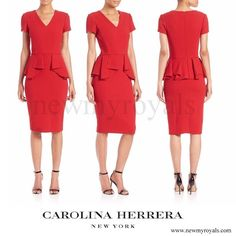 Carolina Herrera stretch-wool peplum dress