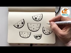 How to draw cute watermelon Watermelon Drawing, Cute Watermelon, Step By Step Drawing, Learn To Draw, Easy Drawings, Doodles, Make It Yourself, Design, Art