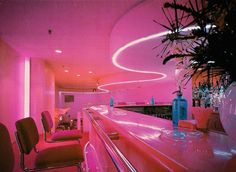 interior aesthetic neon retro bedroom 80s pastel diner ceiling vaporwave aesthetics dark flat rooms soft doors interiors exterior plants login