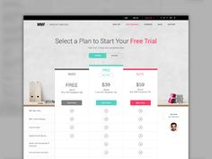 Pricing Table by Christian Bai Web Design Color, Site Design, Layout Design, Table Template, Data Table, Price Plan, Web Design Quotes, Pricing Table, Creative Web Design