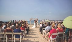Elegance and relaxation at their wedding on the beach at Bay Harbor.