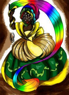 Oxumaré orixá da chuva e do arco-íris, o dono das Cobras e das transformações. - linhadasaguas.com.br