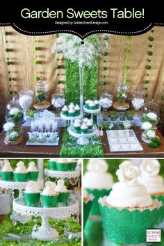 Garden Glam Sweets Table designed by Soiree-EventDesign.com for Koyal Wholesale