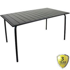 Slatted Bistro Rectangular Table - Sand Grey. Finished in a Dark Grey. Great as part of a furniture set, or as individual tables. Strong, Steel Construction. Weight: 20.8 kg. Length: 140 cm. Width: 80 cm. Framing Materials, Dark Grey, Furniture Sets, Tables, Home And Garden, Strong, Construction, Steel, The Originals