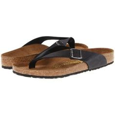 $110, Black Thong Sandals: Birkenstock Adria Sandals Black Oiled Leather. Sold by Zappos.