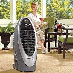 Evaporative Air Cooler - Improvements by Improvements. $169.98. The Evaporative Air Cooler is ideal for sunrooms, offices, porches, decks (weather permitting), or any small area that needs big cooling. Powerful portable air cooler uses water, not harmful refrigerants, for energy-efficient cooling in areas up to 200 sq. ft.. This portable air cooler has a 2-3/4-gallon water capacity with water level sensor. Automatic swinging louvers effectively distribute cool air ...