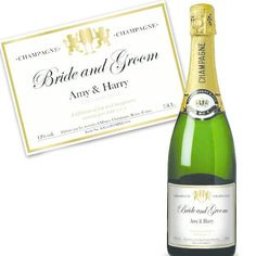 Bride and Groom Personalised Champagne Luxury Gift Box