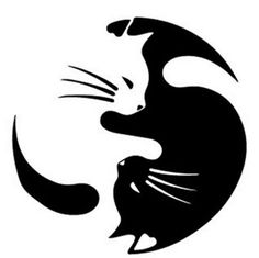 Ying Yang Cat Sticker