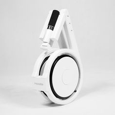 This electric bike can be folded away and carried in a backpack. #electric #bike